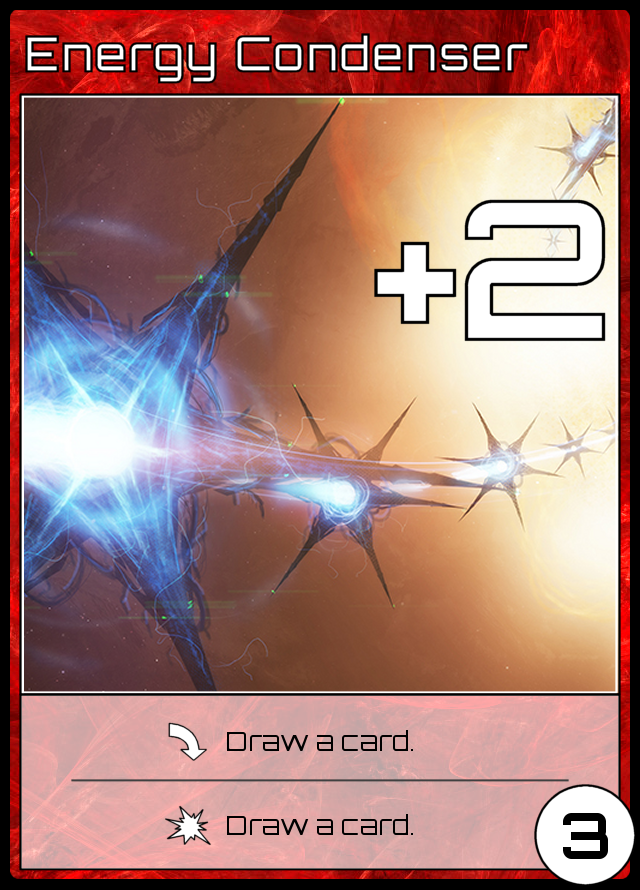 3ER, +2, played: draw a card, purged: draw a card